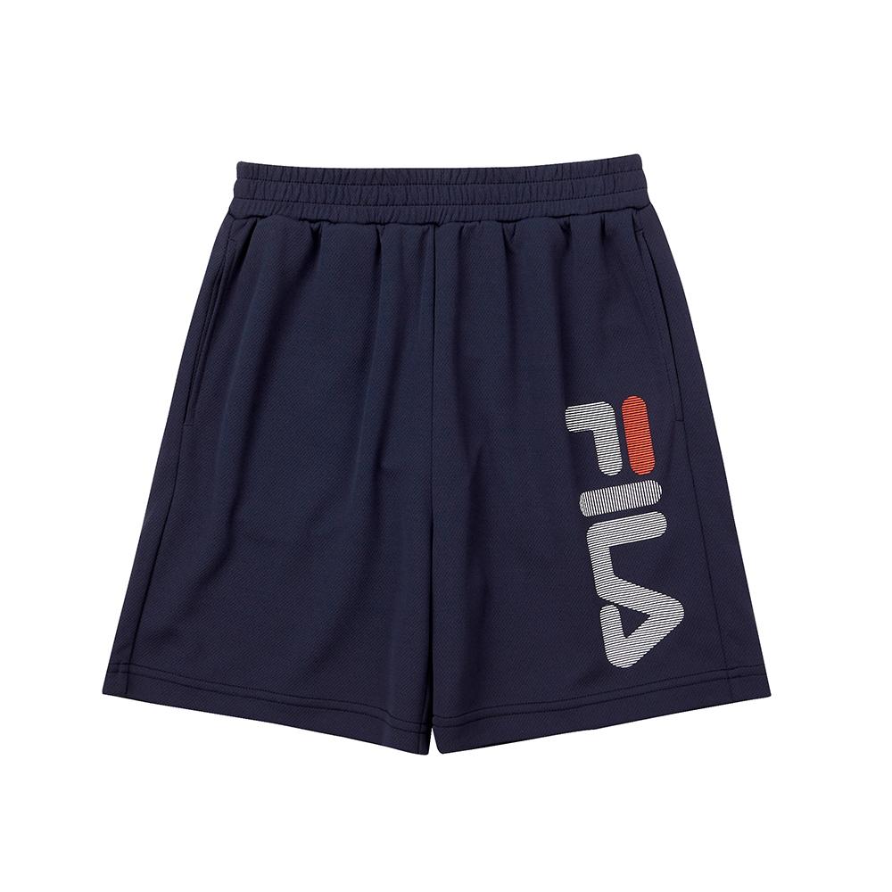 FILA KIDS 童吸濕排汗4分褲-丈青 1SHT-4909-NV