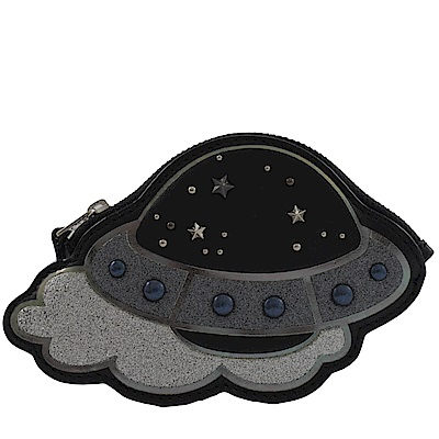 COACH 太空船造型零錢包(黑)