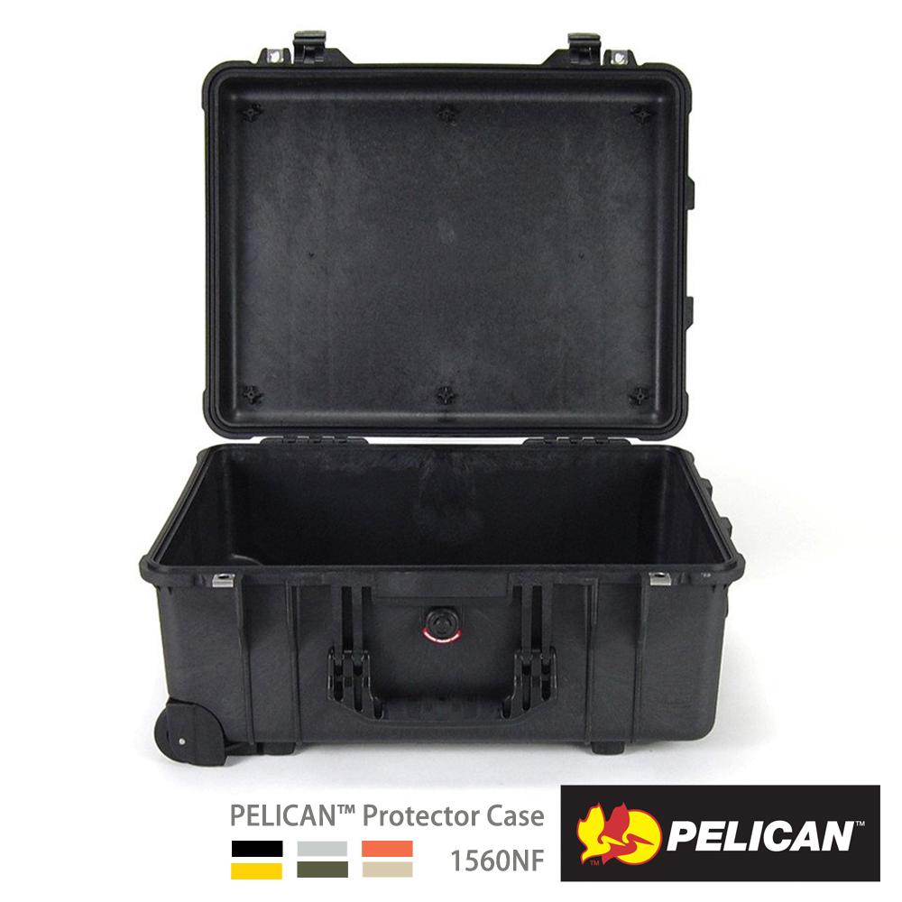 美國 PELICAN 1560NF 輪座拉桿氣密箱-空箱(黑)