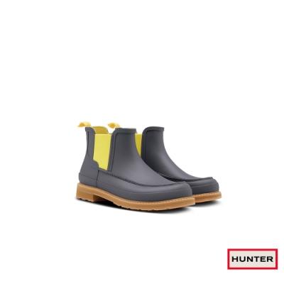 HUNTER - 男鞋 - Original MOC TOE輕量切爾西霧面踝靴 - 灰