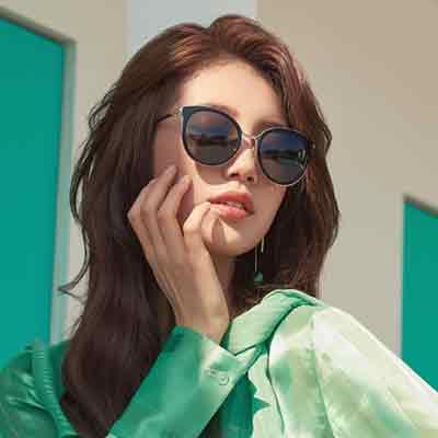 CARIN太陽眼鏡 秀智代言 經典貓眼款/黑金 #MADELEINE C1