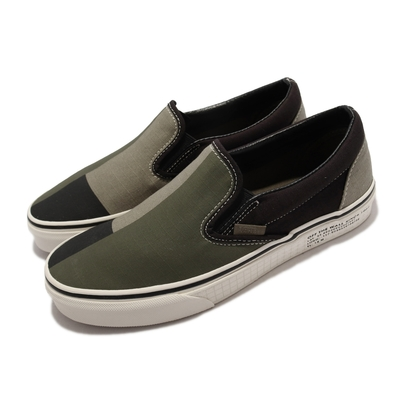 Vans 休閒鞋 Classic Slip On 女鞋 無鞋帶 懶人鞋 好穿脫 色塊 簡約 綠 黑 VN0A4U381FX