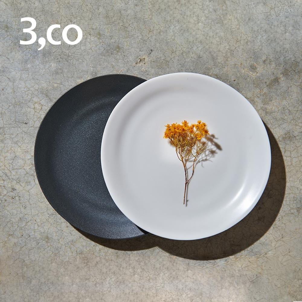 3,co 水波麵包盤(2件式) - 黑+白