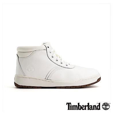 Timberland 男款白色全粒面皮革運動靴|A1OHS