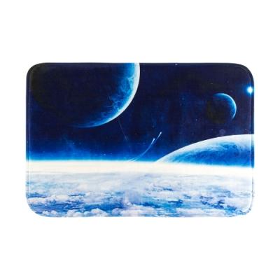樂嫚妮 法蘭絨吸水防滑地墊-星球雲海
