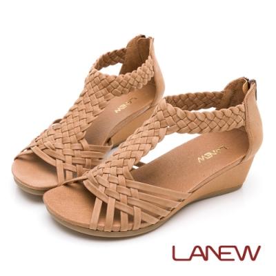 LA NEW 風格編織厚底涼鞋(女226063910)