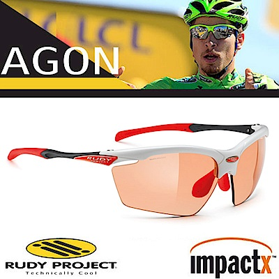 Rudy Project Agon 專業防爆變色運動眼鏡_白框+變色紅片