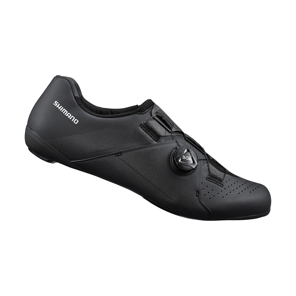 【SHIMANO】RC300 男性公路車性能型車鞋 寬楦 黑色