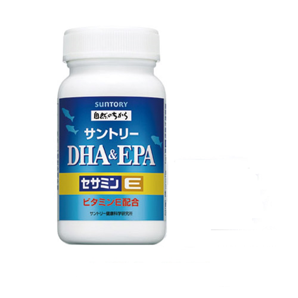 (加贈隨身包x1)SUNTORY魚油 DHA&EPA+芝麻明E(30日份/120粒)