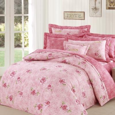 Arnold Palmer雨傘牌 台製 玫瑰濃情60紗精梳純棉床罩雙人加大七件組