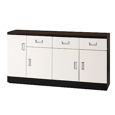 綠活居 凱沃時尚5尺雙色餐櫃/收納櫃-149.1x44.4x81cm-免組