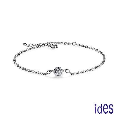 ides愛蒂思 30分E/VS1頂級車工EX鑽石手鍊/18K(花朵)