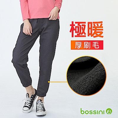 bossini女裝-厚刷毛束口褲01灰
