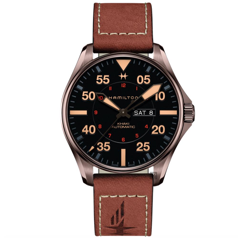 Hamilton 漢米爾頓 卡其航空系列PILOT DAY DATE 機械錶