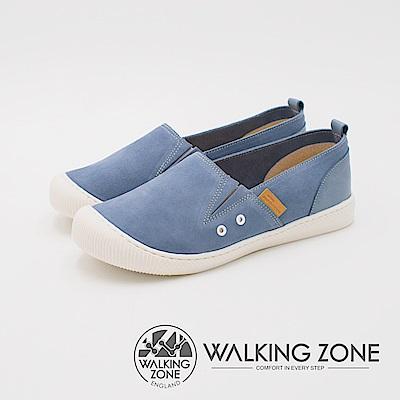 WALKING ZONE 3M防水系列 CUTE圓頭休閒女鞋-藍(另有米)