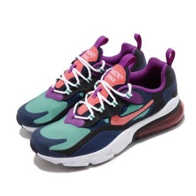 Nike 休閒鞋 Air Max 270 React 女鞋 海外限定 氣墊 避震 舒適 大童 藍 綠 BQ0103402
