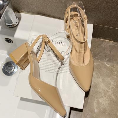KEITH-WILL 時尚鞋館女神同款歐美主流質感小跟鞋-卡其