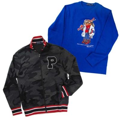 [時時樂]Ralph Lauren限量小熊刷毛大學T/連帽外套/夾克(多款)