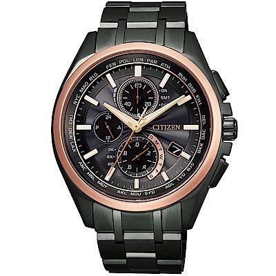 CITIZEN 星辰電波時計鈦金屬腕錶/限量商品/AT8046-51E