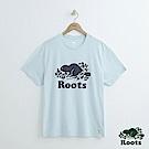 男裝Roots-庫柏海狸短袖T恤-藍