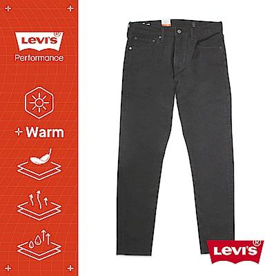Levis 男款 上寬下窄 512低腰修身窄管牛仔褲 WARM JEANS 機能保暖內刷毛 黑皮牌 彈性布料