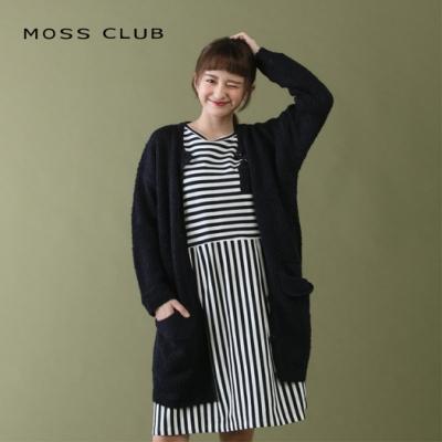 【MOSS CLUB】秋季長版外套-針織衫(二色)