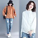 木耳花邊燈籠袖上衣-共2色(L/XL可選)    NUMI  森