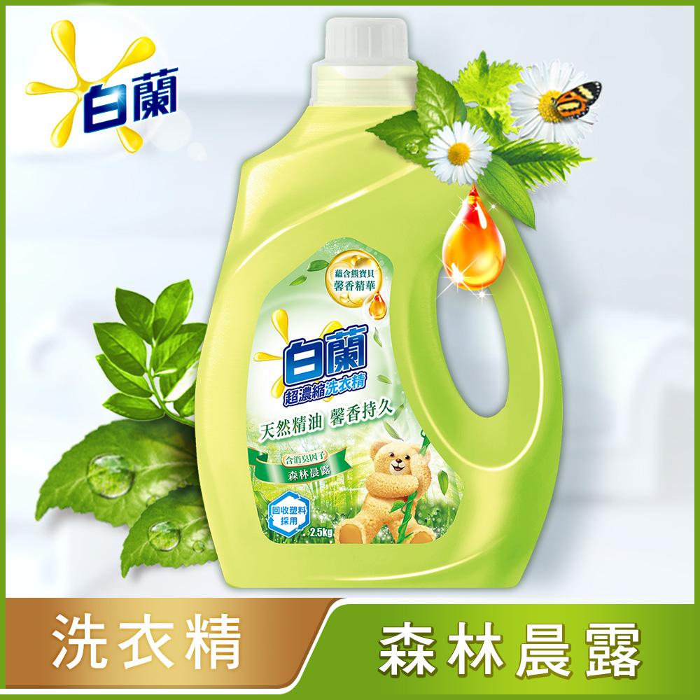 白蘭 含熊寶貝馨香精華森林晨露洗衣精瓶裝2.5KG