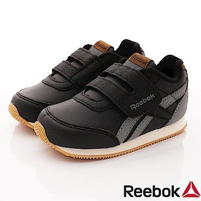 Reebok頂級童鞋 經典簡約學步鞋款 FO822黑(寶寶段)