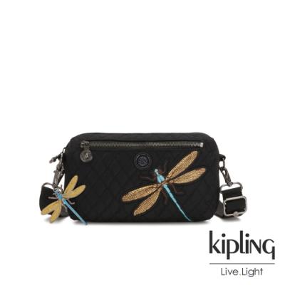 Kipling Christine Lau聯名款-精緻質感蜻蜓刺繡方形腰包-HALIMA