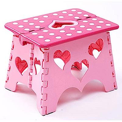親親寶貝 獨家專利設計愛心粉彩防滑折疊椅_30*23*31cm_超值三入