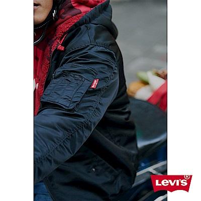 Levis 男女同款 雙面穿飛行外套 內裡紅迷彩