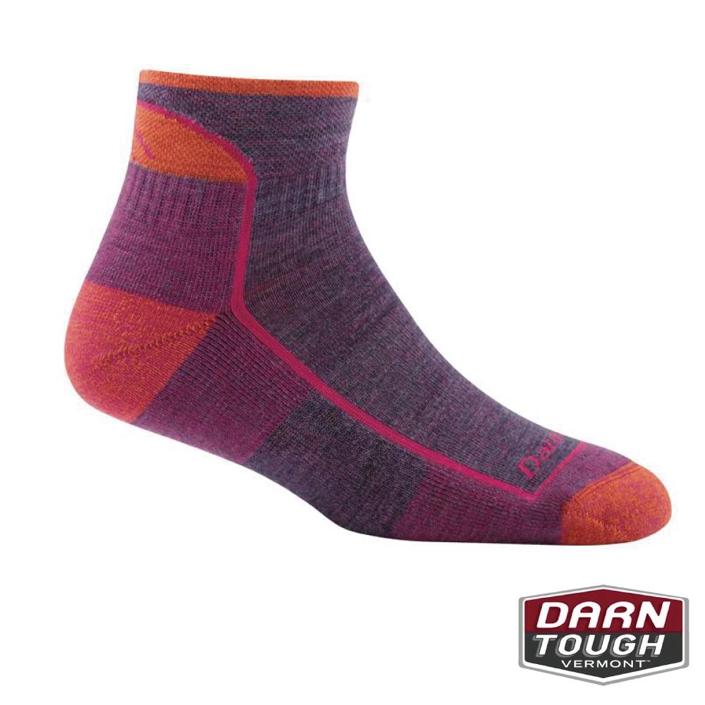 【美國DARN TOUGH】女羊毛襪HIKER 1/4健行襪(2入隨機)