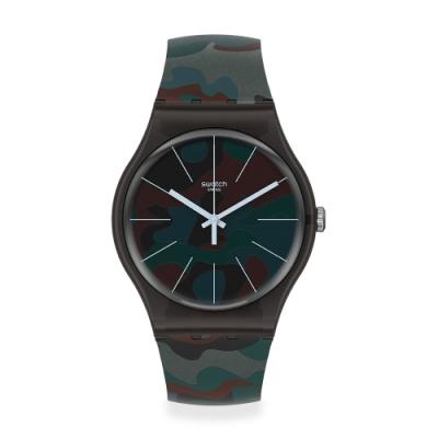 Swatch 原創系列手錶 CAMOUCITY 迷彩都市黑-41mm