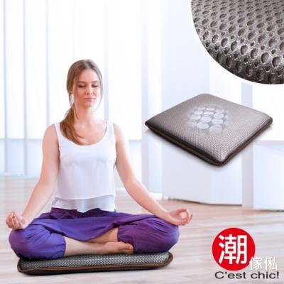 C est Chic_湖月閣獨立筒透氣瑜珈/打坐/和室墊-舒壓灰