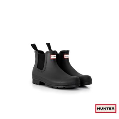 HUNTER -男鞋 - Original切爾西霧面踝靴 - 黑