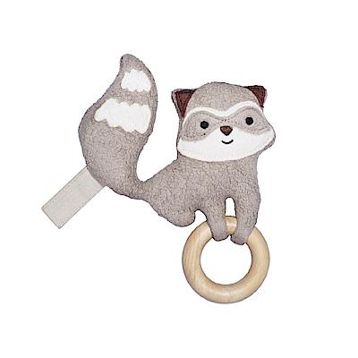 【美國 Apple Park】隨身安撫啃咬牙環玩具 - 小浣熊