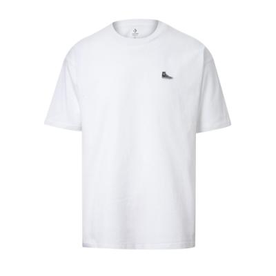 CONVERSE CHUCK TAYLOR SHOE PATCH SS TEE 男女 短袖上衣 白色 10020931-A01