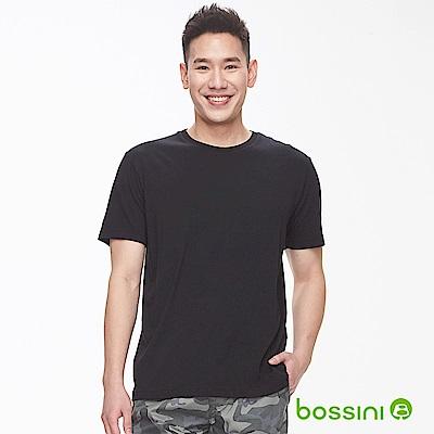 bossini男裝-素色純棉圓領T恤黑