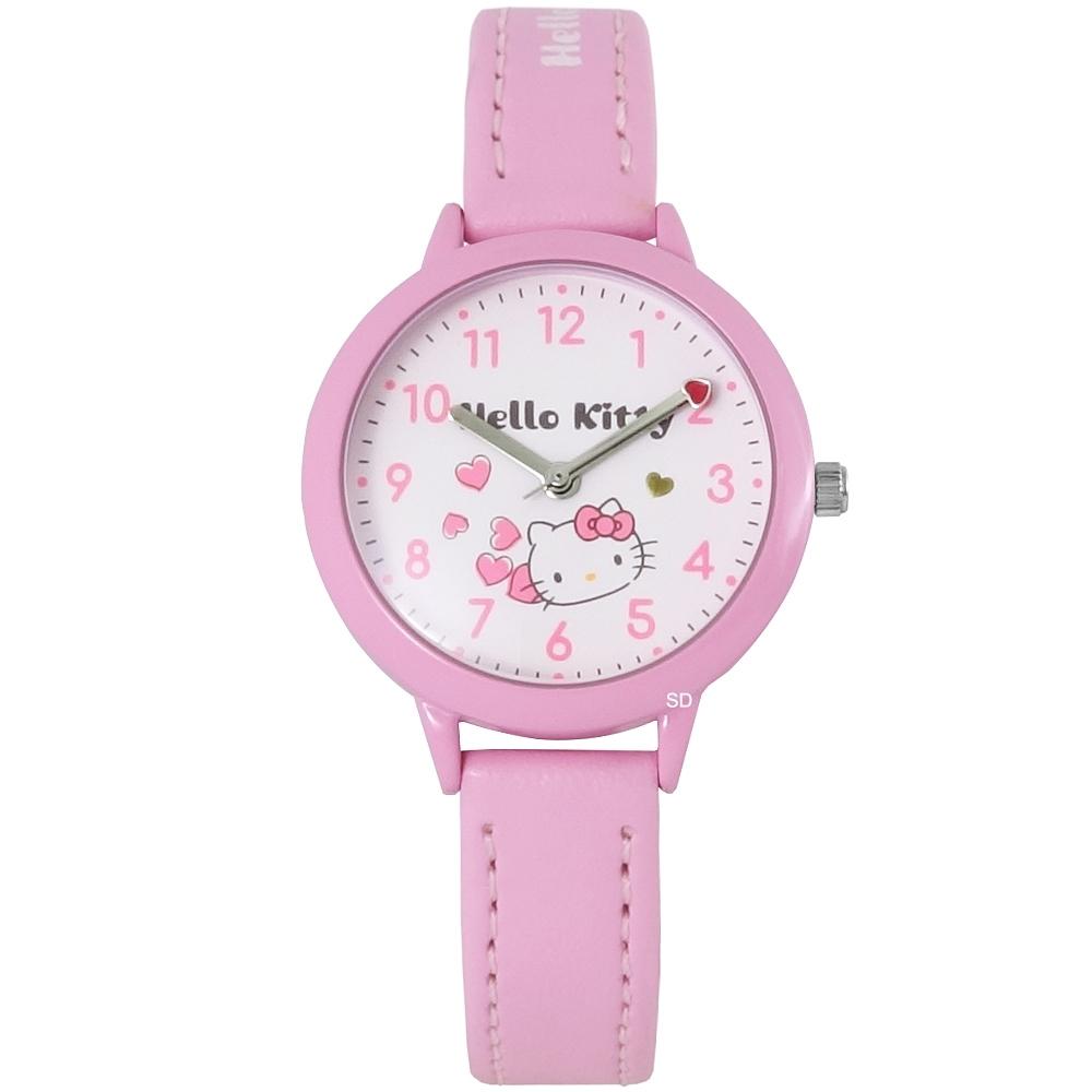 HELLO KITTY 凱蒂貓甜美蝴蝶結手錶-白X粉/31mm