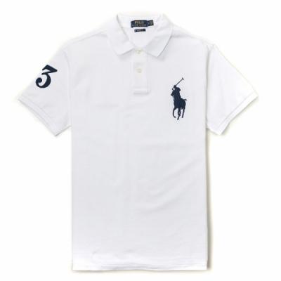 Polo Ralph Lauren 經典電繡大馬Polo衫(Custom)-白色
