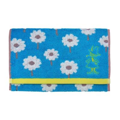 日本丸真 Moomin 葡萄牙製刺繡毛巾-阿金看花