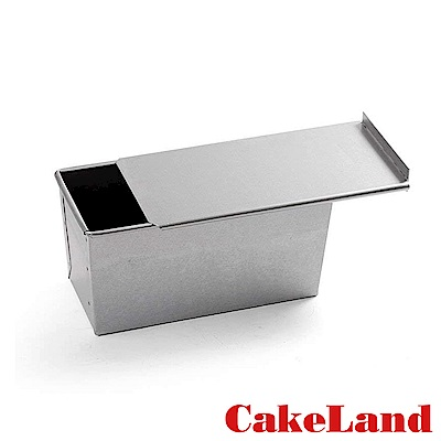 日本CakeLand 1.5斤附蓋長方型吐司烤模-日本製