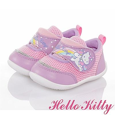 (雙 11 )HelloKitty 彩虹系列 透氣減壓抗菌休閒童鞋-紫
