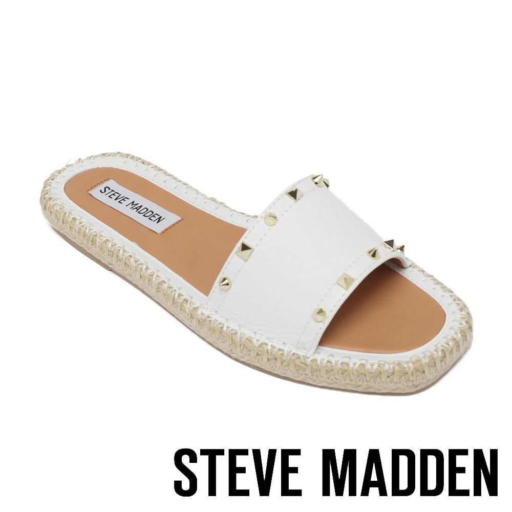 STEVE MADDEN-ST.JOHNS 平底編織涼鞋-白色
