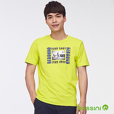 bossini男裝-印花短袖T恤34草綠