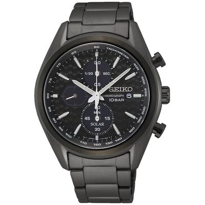 SEIKO精工 CS系列 喬治亞羅設計 太陽能三眼計時手錶-41.2mm(V176-0BH0SD/SSC773P1)
