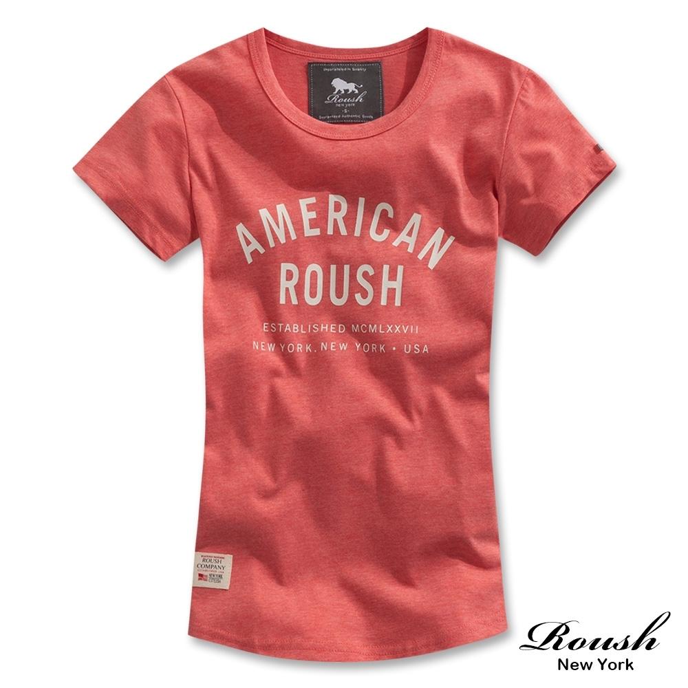 Roush 女生簡約立體膠印圓弧短TEE(3色)