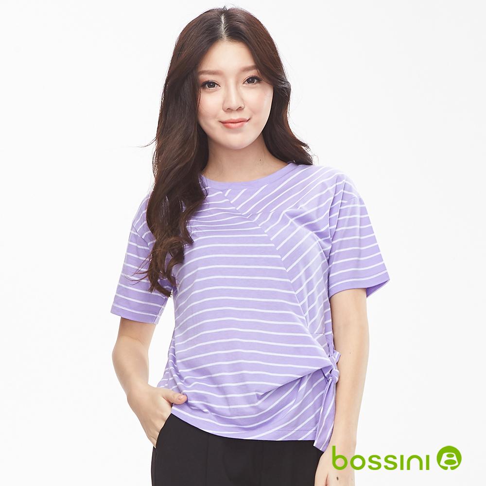 bossini女裝-圓領短袖上衣06淺紫