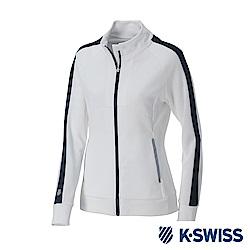 K-SWISS Traning Zip Up女運動外套-女-白